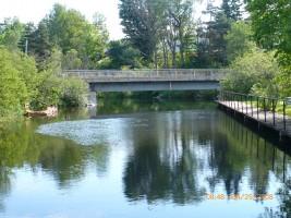 Pont barrage en Juin 2008